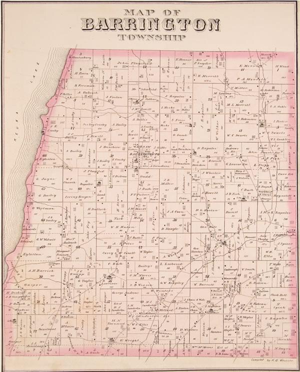 Barrington Township Maps 1876